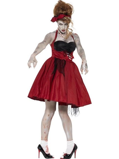 Zombie 50's Rockabilly Costume, UK 8-10
