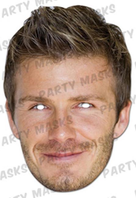 David Beckham Celebrity Face Card Mask