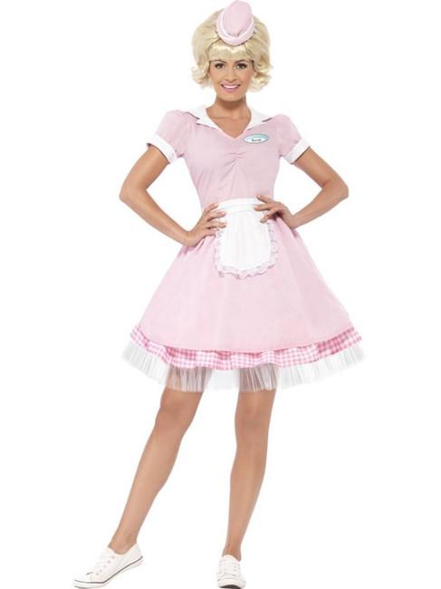 50's Diner Girl Costume, UK 16-18