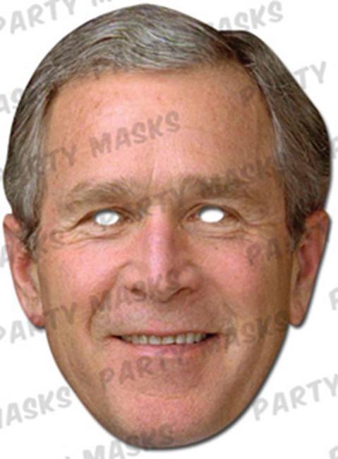 George Bush Celebrity Face Card Mask
