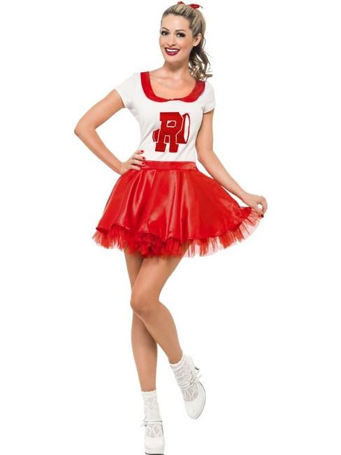 Sandy Cheerleader Costume, UK Size 12-14