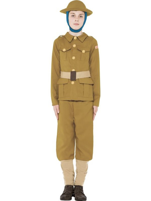 Horrible Histories WWI Boy Costume, Large