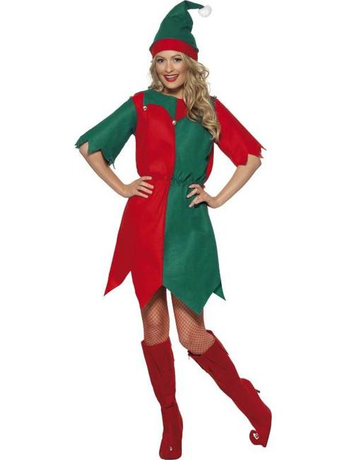 Elf Costume, Ladies Tunic, UK 16-18