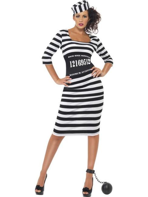 Classy Convict Costume, UK 16-18
