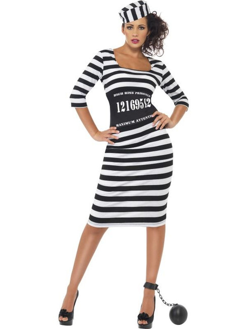 Classy Convict Costume, UK 8-10