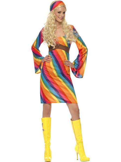 Rainbow Hippie Costume, UK 20-22