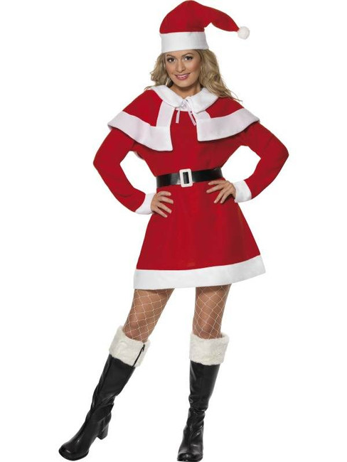 Miss Santa Fleece Costume, UK 8-10