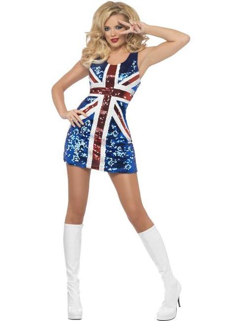 Fever All that Glitters Rule Britannia Costume, UK 12-14