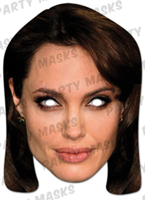Angelina Jolie Celebrity Face Card Mask
