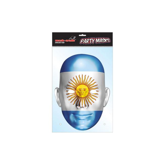 Argentina Flag Face Face Card Mask