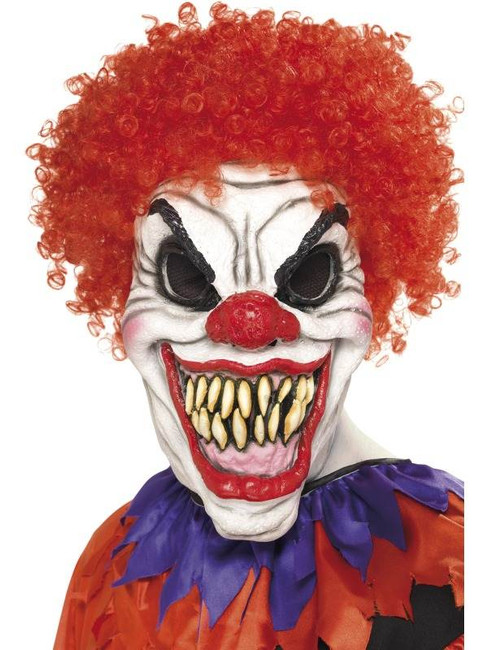 Scary Clown Mask, Foam Latex, One Size