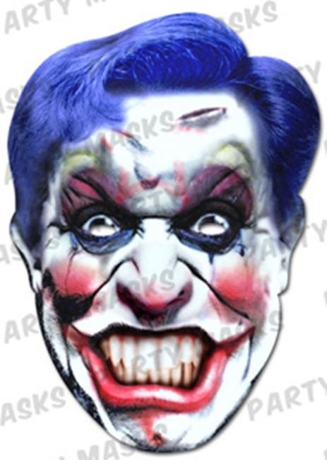 Clown Horror Face Card Mask