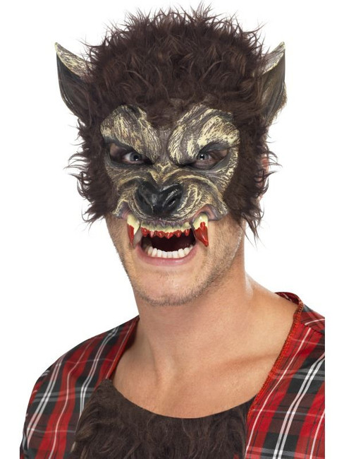 Werewolf Half Face Mask, One Size