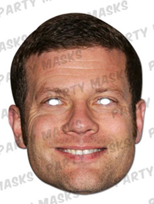 Dermot O'Leary Celebrity Face Card Mask