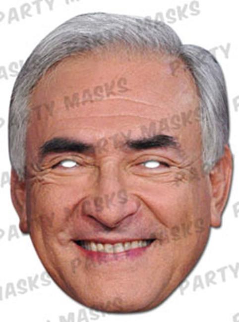 Dominique Strauss Kahn Celebrity Face Card Mask