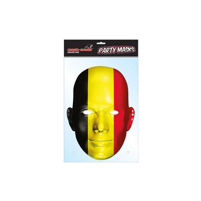 Belgium Flag Face Face Card Mask