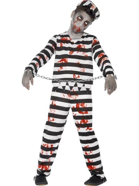 Zombie Convict Costume, Medium Age 7-9