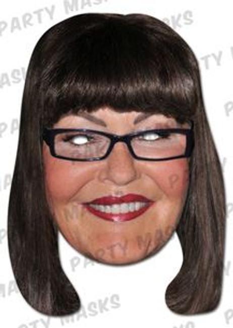 Hilary Devey Celebrity Face Card Mask