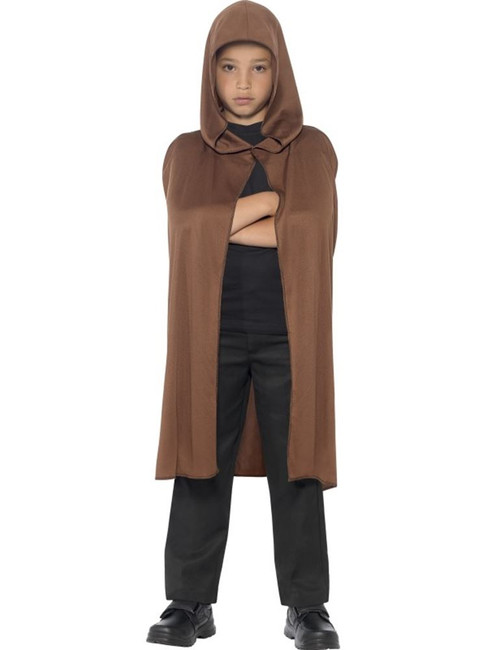 Cape Hooded, Brown, One Size