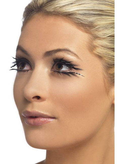 Eyelashes, Black Sparkle Top & Bottom Set
