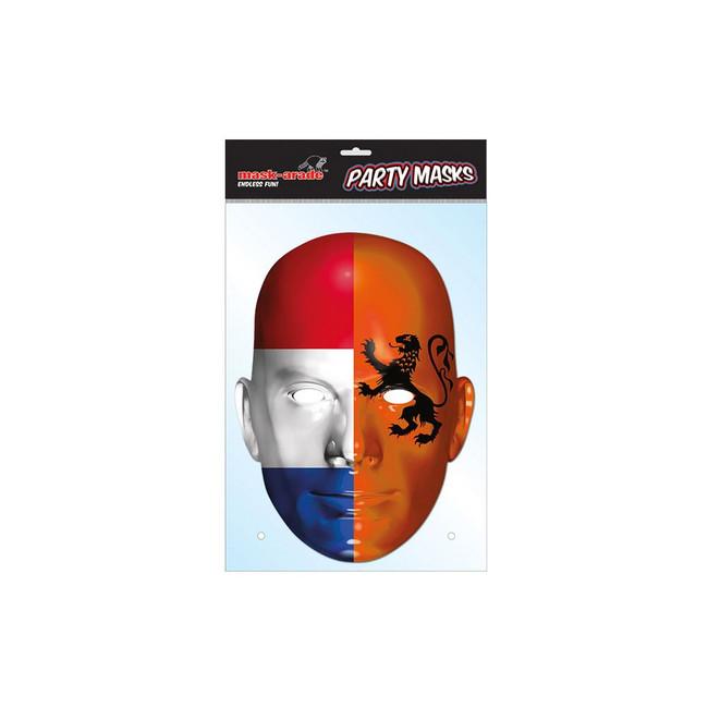 Holland Flag Face Face Card Mask