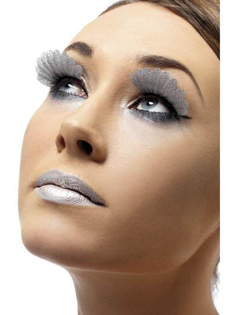 Feather Eyelashes, Silver
