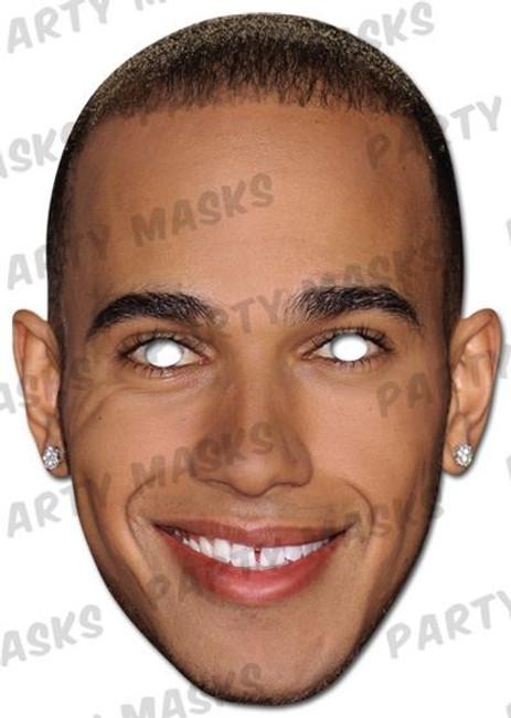 Lewis Hamilton Celebrity Face Card Mask