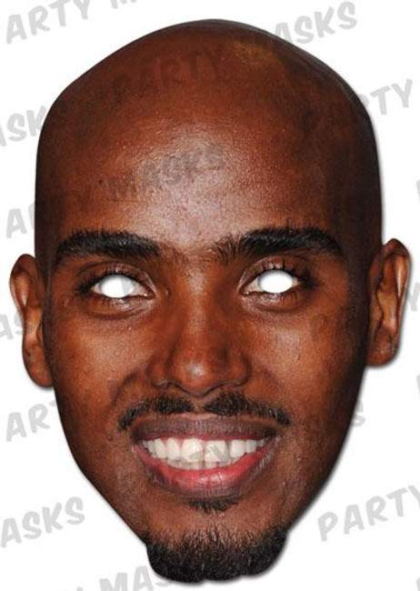 Mo Farah Celebrity Face Card Mask