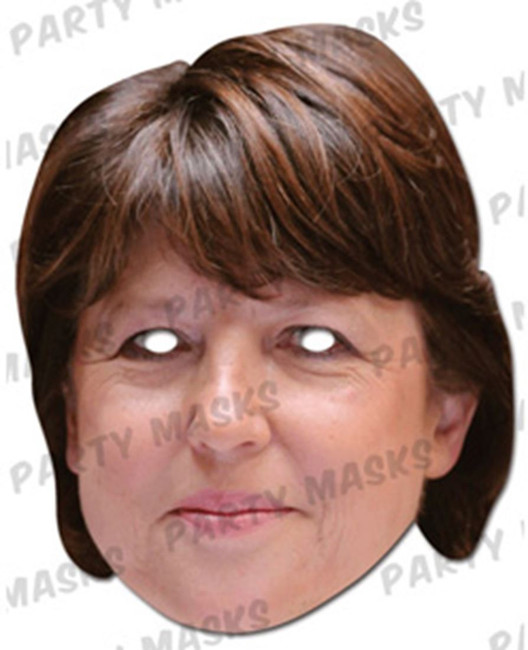 Martine Aubry Celebrity Face Card Mask