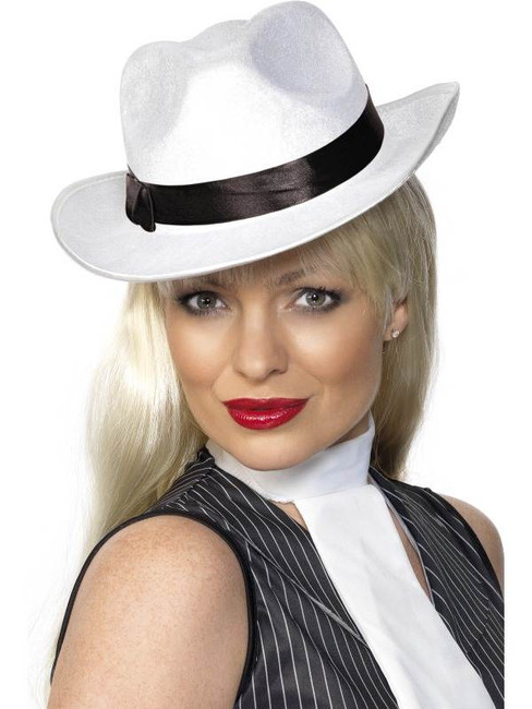Gangster Hat White