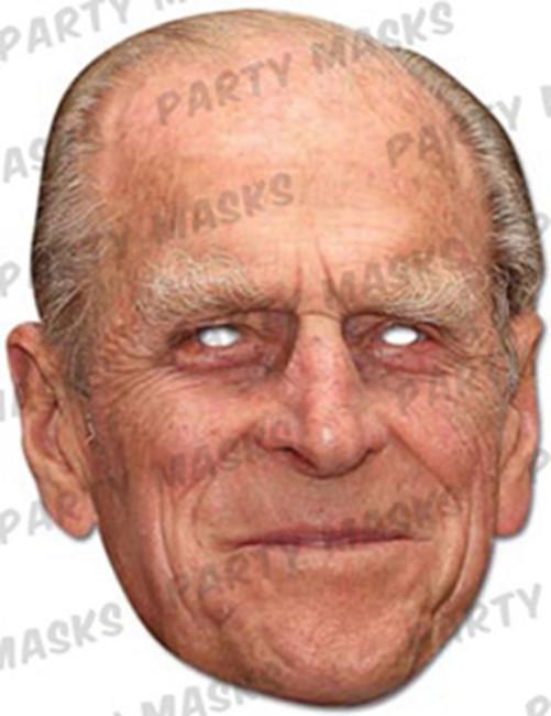 Prince Philip Celebrity Face Card Mask