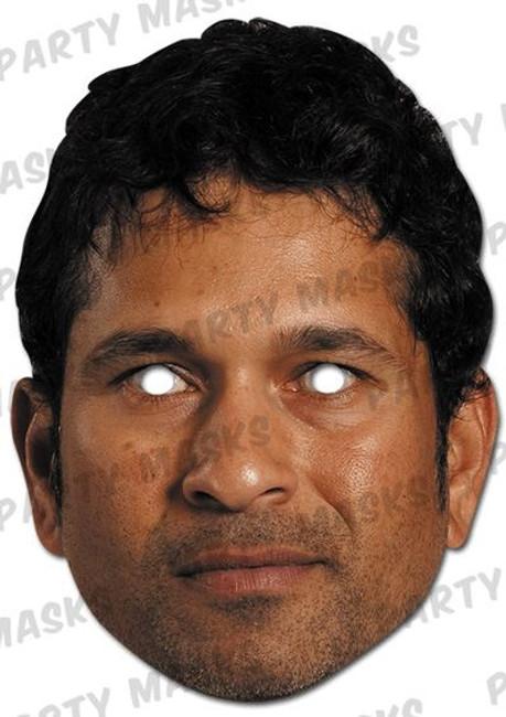 Sachin Tendulkar Celebrity Card Mask