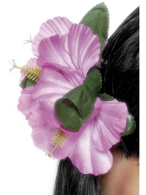 Pink Hawaiian Flower Hair Clip.