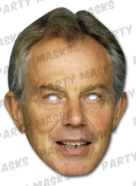 Tony Blair Celebrity Face Card Mask