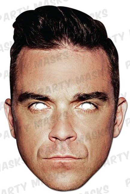 Robbie Williams Card Mask