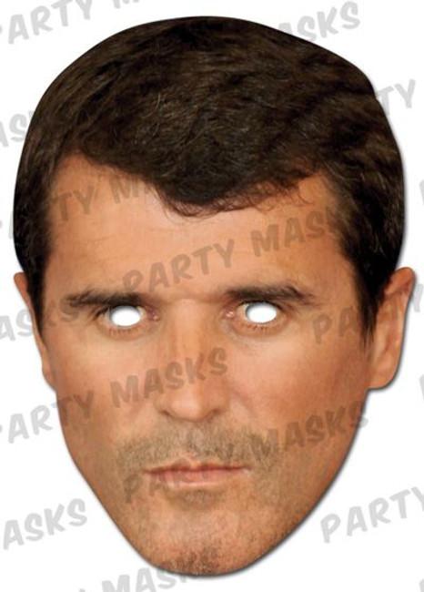 Roy Keane Celebrity Face Card Mask