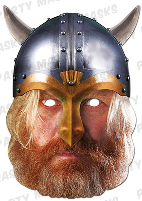 Viking Historical Face Card Mask