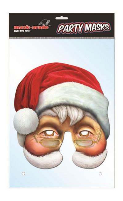Santa Character Face Card Mask