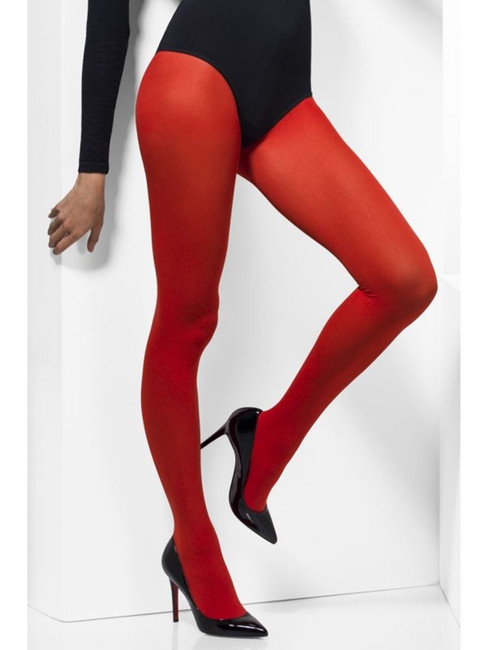 Opaque Tights, Red