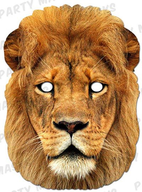 Lion Animal Face Card Mask
