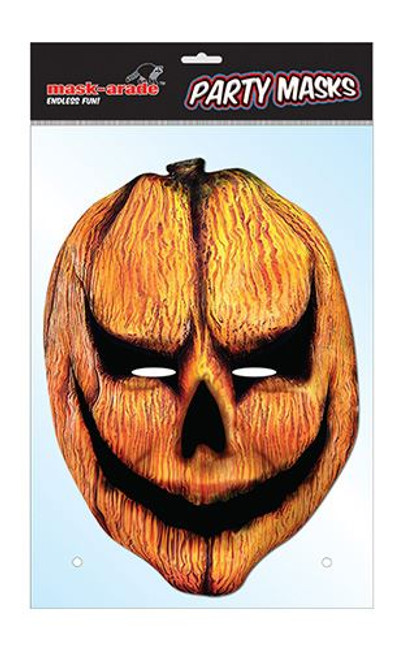 Pumpkin Horror Face Card Mask