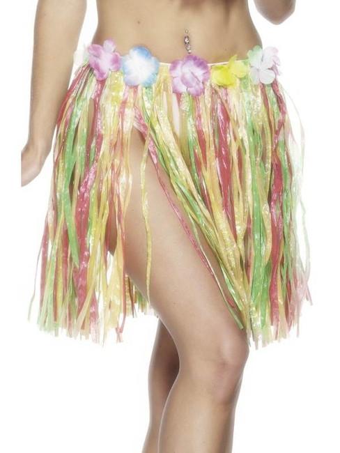 Hawaiian Hula Skirt.  Multicolour, Short