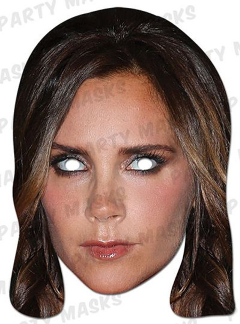 Victoria Beckham Celebrity Face Card Mask