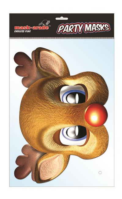 Rudolph Character Face Card Mask