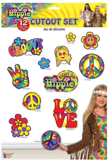 Hippie Décor- Cutout Set 12pc