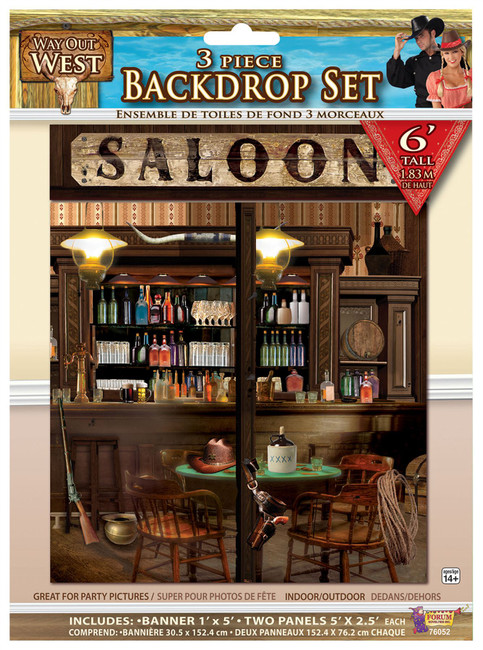 Way Out West- Back Drop Set (3pc/6ft Tall)
