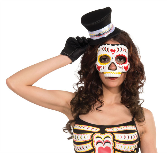 Day of the Dead Eye Mask Female on Elastic