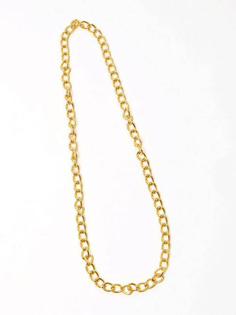 Gold Chain 100cm,  1990s Rapper, Bling, Oversized Jewellery Fancy Dress