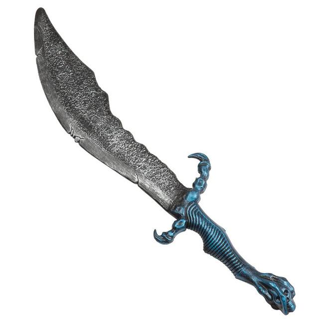 FANTASY SWORD/ BLUE HANDLE 60CM, FANCY DRESS ACCESSORY
