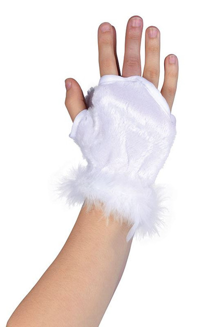 ANIMAL GLOVELETS. WHITE, ACCESSORIES, FANCY DRESS